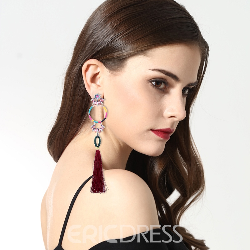 Ericdress National Style Beads Tassel Women's Earring