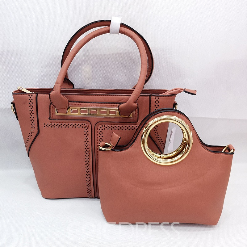 Ericdress Hollowed Out Solid Color Women Handbag