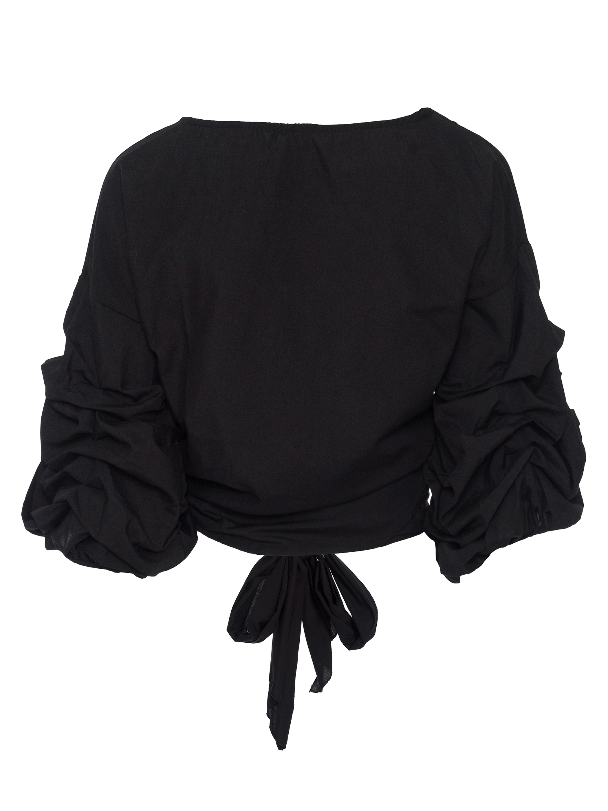 Ericdress V-Neck Puff Sleeve Pullover Blouse