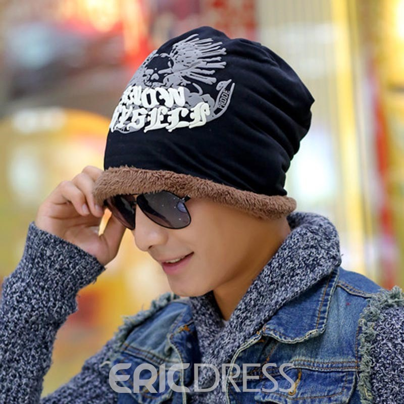 7190845f1a6 Ericdress Stylish Thicken Warm Letter Printed Men s Hat 13072819 ...