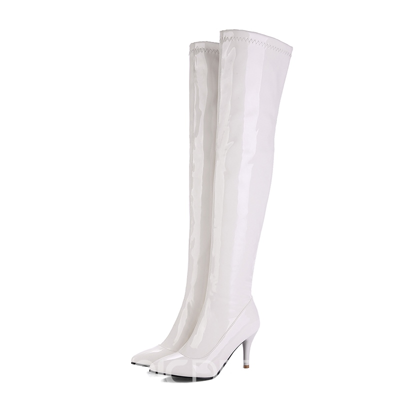 Ericdress All Match Pointed Toe Plain Knee High Boots