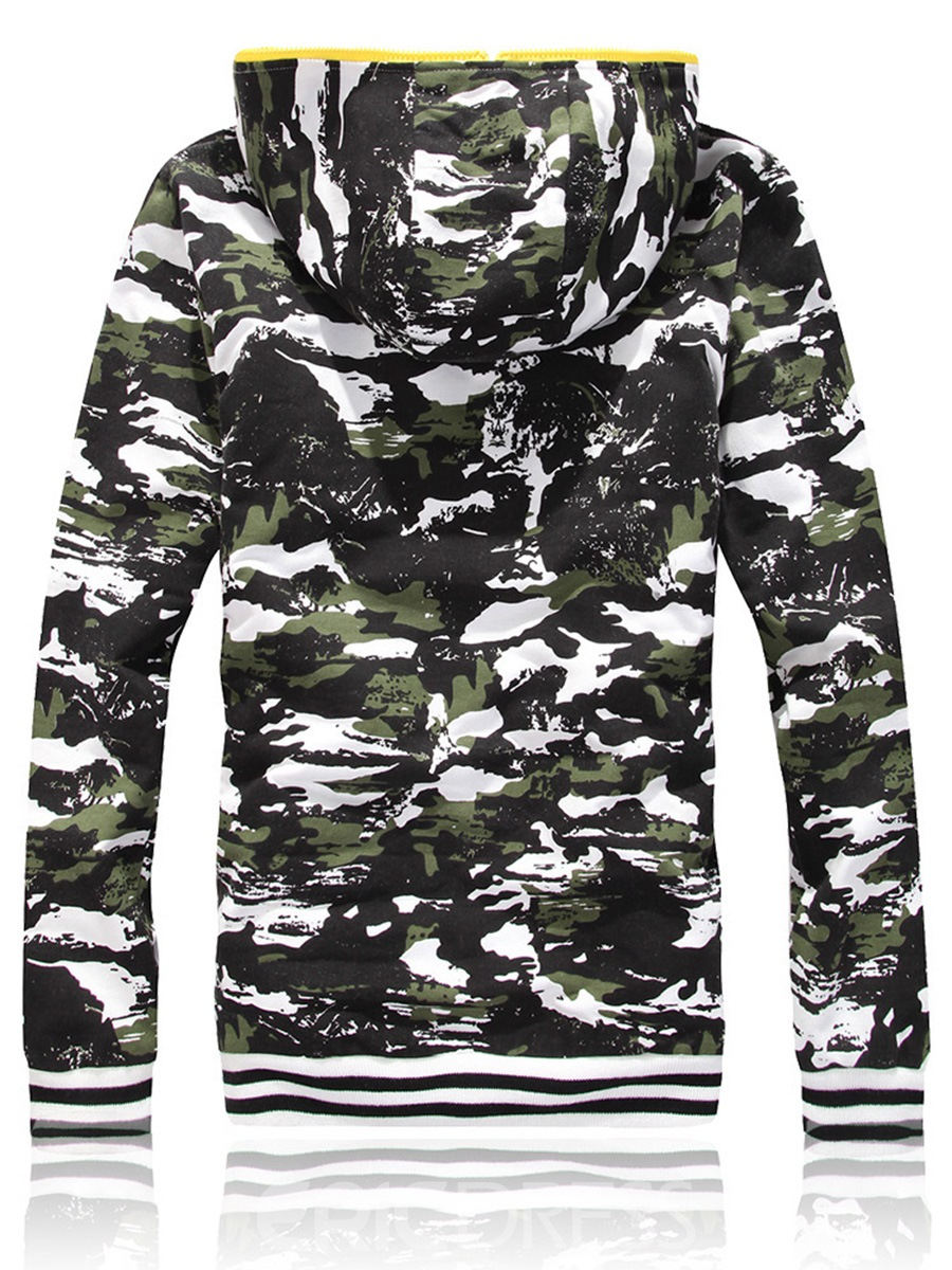Ericdress Hooded Camouflag Casual Slim Men's Sports Suit