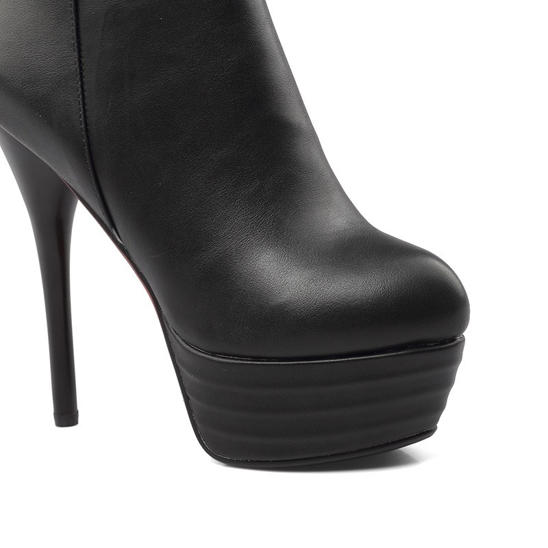 Ericdress Side Zipper Stiletto Heel Platform Boots