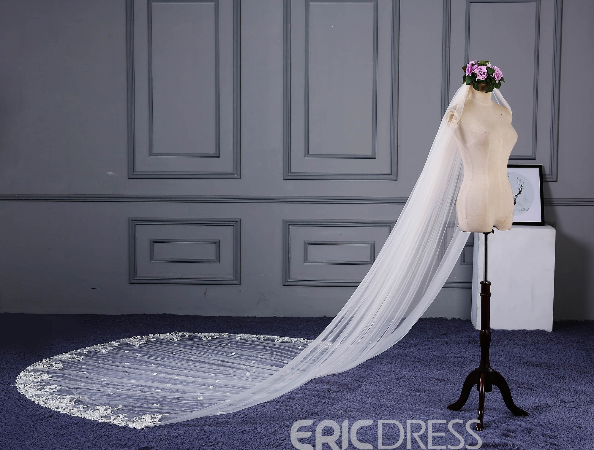 Ericdress Applique Edge Long Bridal Veil