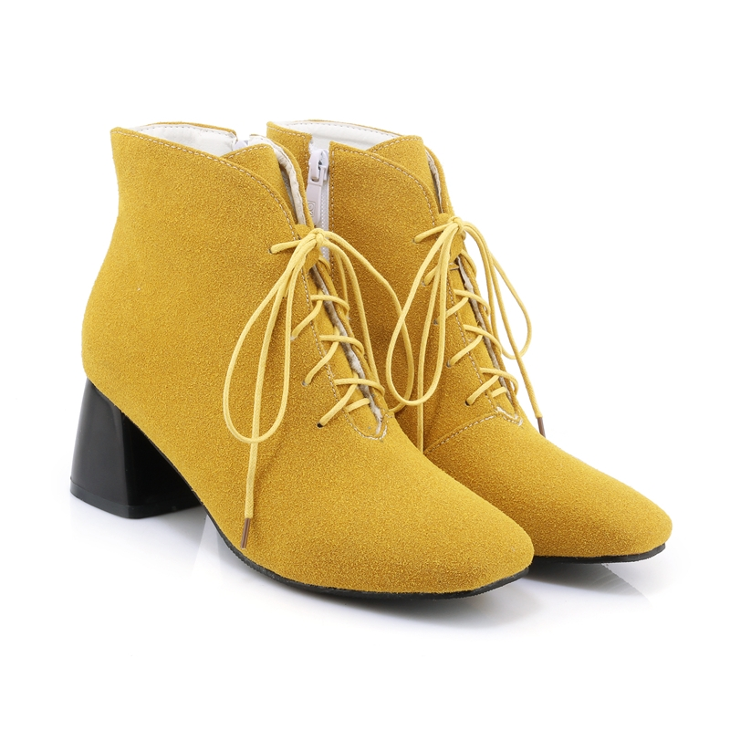 Ericdress Comfy Plain Cross Strap Ankle Boots