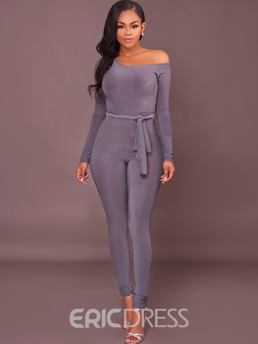 Ericdress Lace-Up Plain Jumpsuits Pants