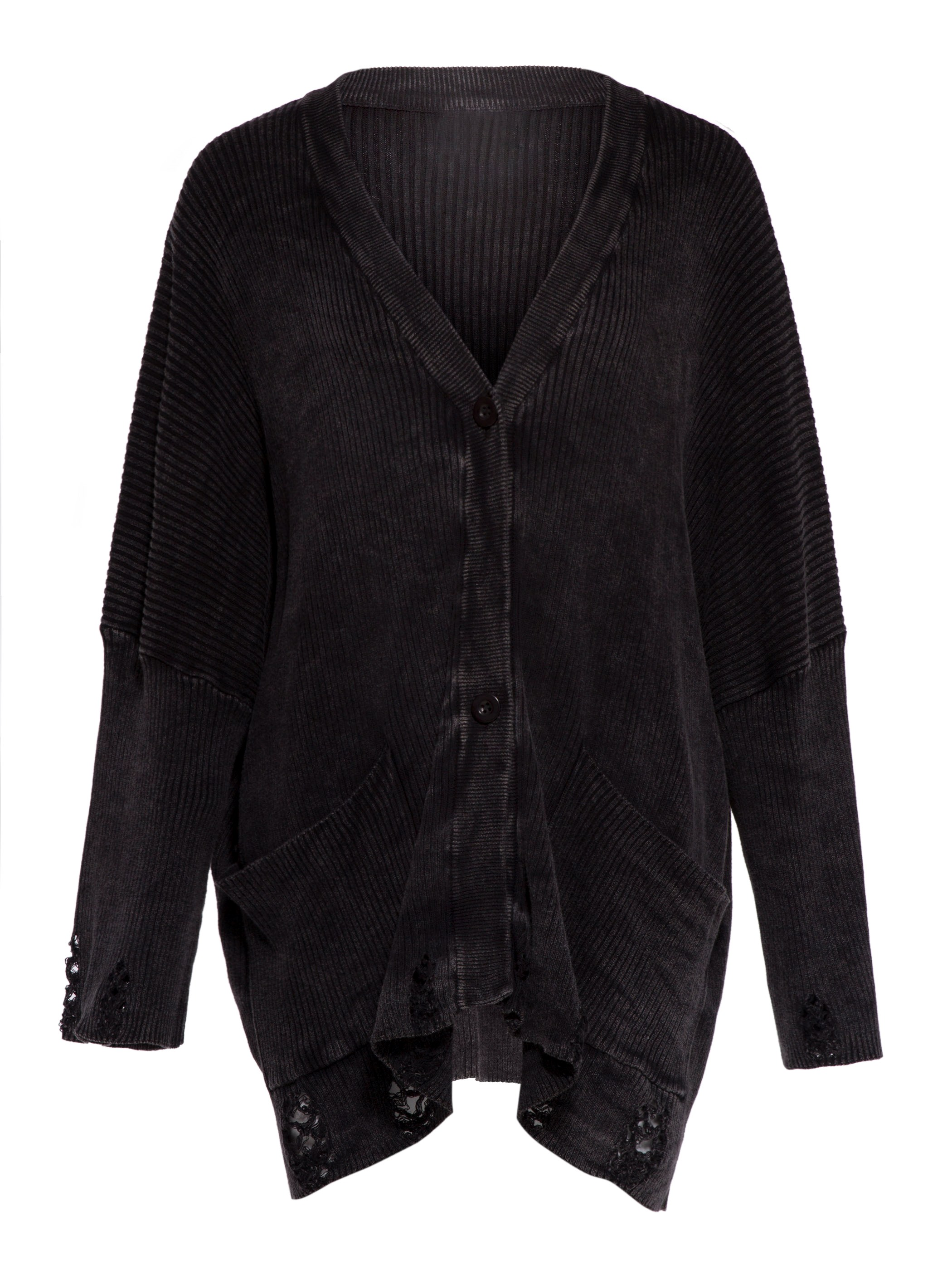Ercdress Loose Hole Single-Breasted Cardigan Coat