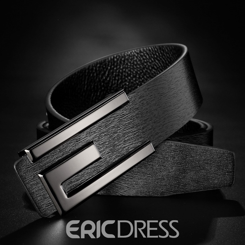 Ericdress Smooth Buckle Genuine Leather High-End Men's Belt