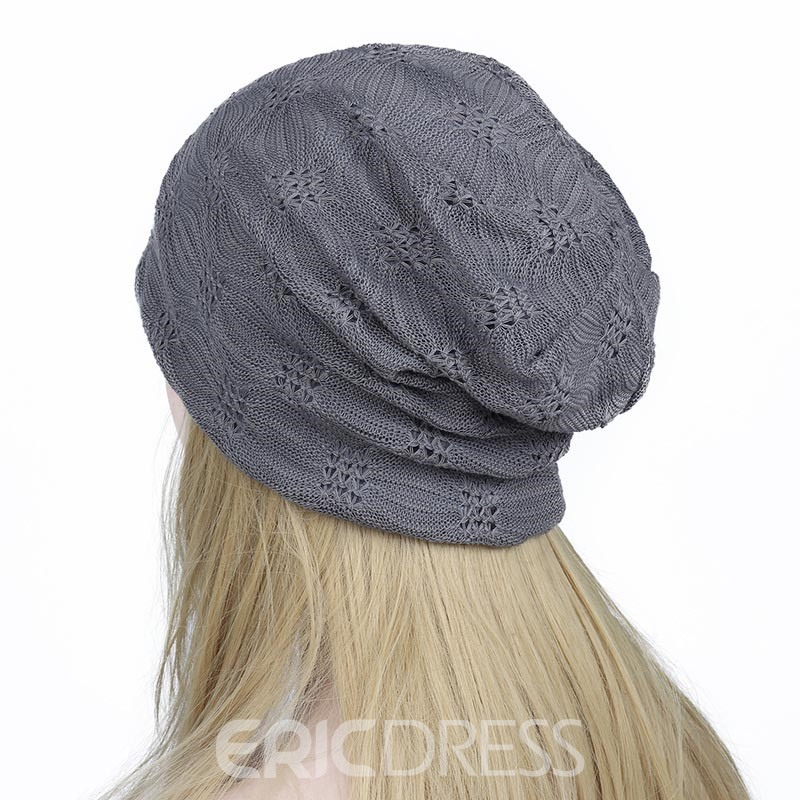 Ericdress Hollow Out Soild Color Lace Women's Hat