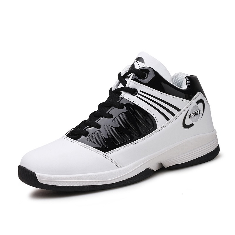 Ericdress Breathable Color Block Patchwork Men's Basketball Shoes