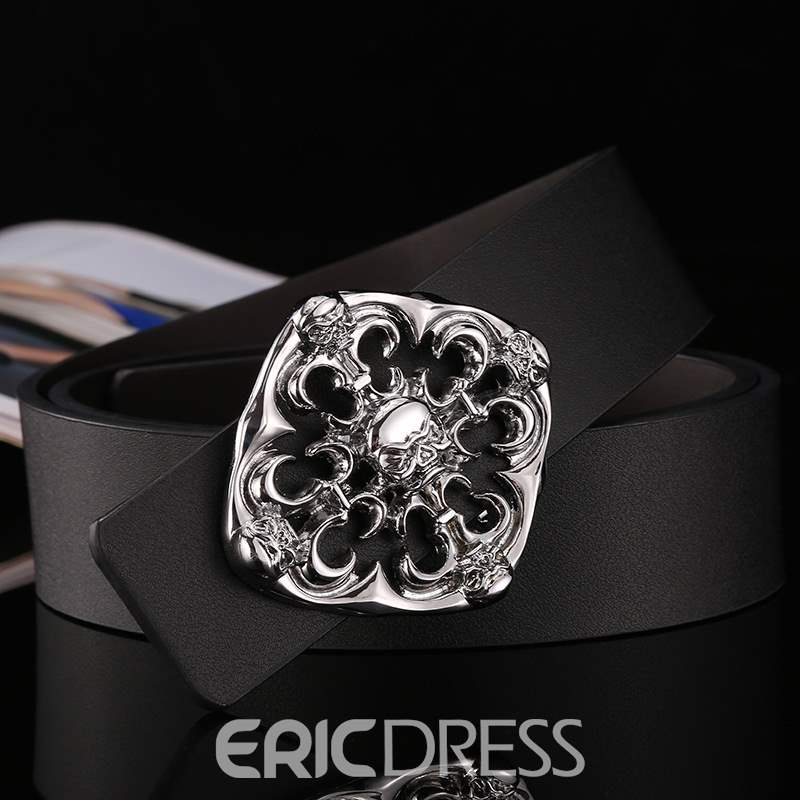 Ericdress Unique Design Genuine Leather Smooth Buckle Men's Belt