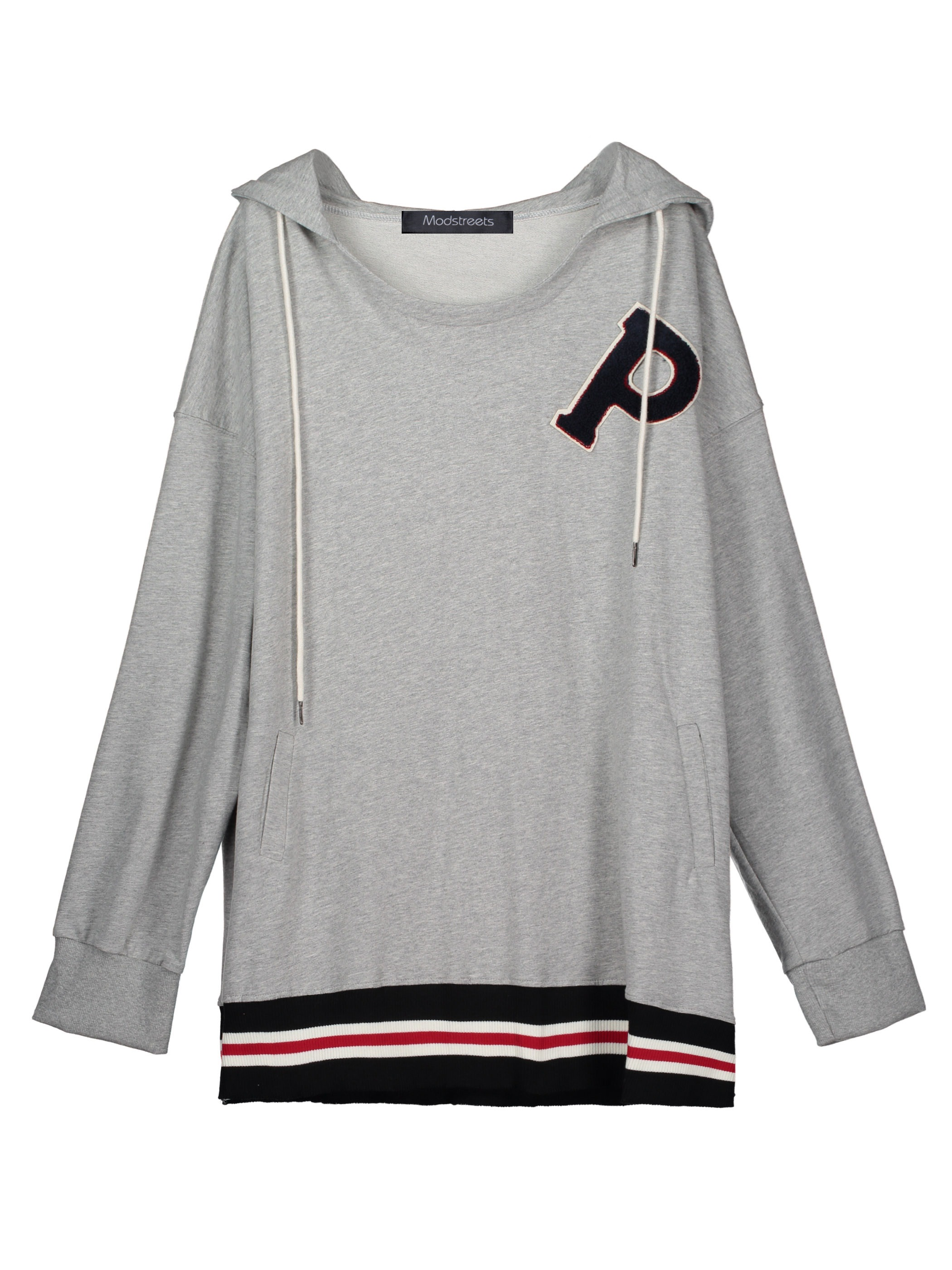 Ericdress Loose Letter Flocking Pullover Cool Hoodie