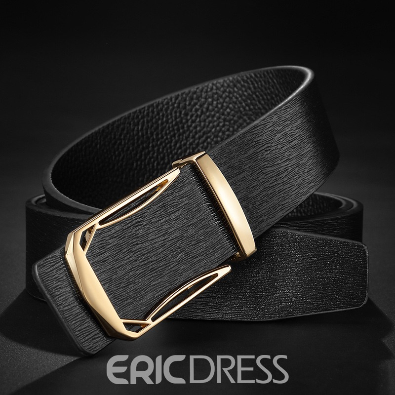 Ericdress Smooth Buckle Business Genuine Leather Men's Belt