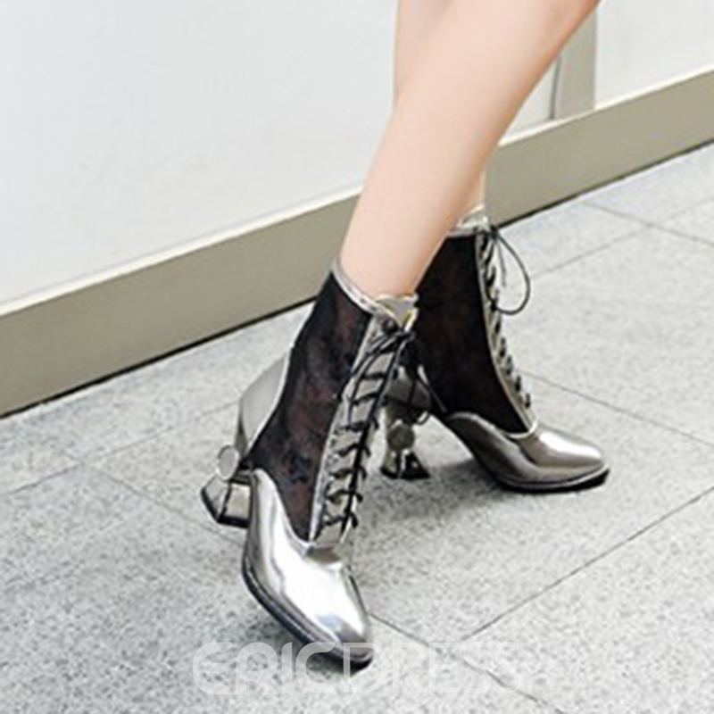 Ericdress Popular Lace See-Through High Heel Boots
