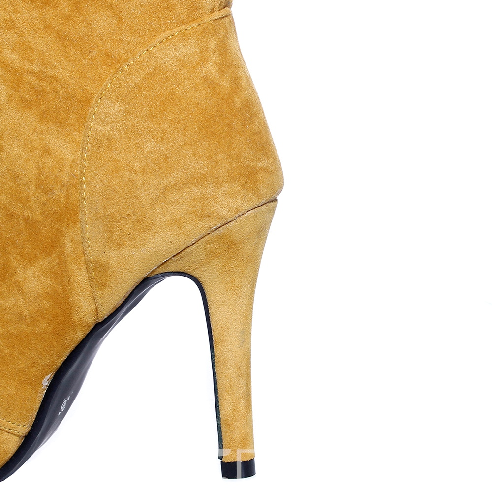 Ericdress Fashion Plain Pointed Toe Lace-Up High Heel Boots