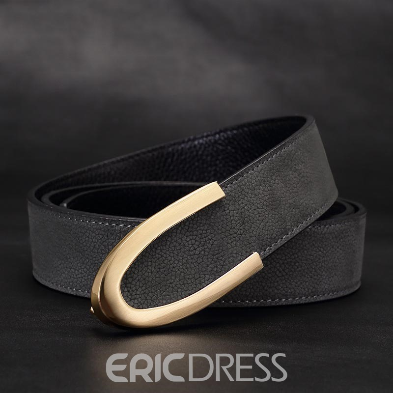 Ericdress Concise Genuine Leather Men's Belt