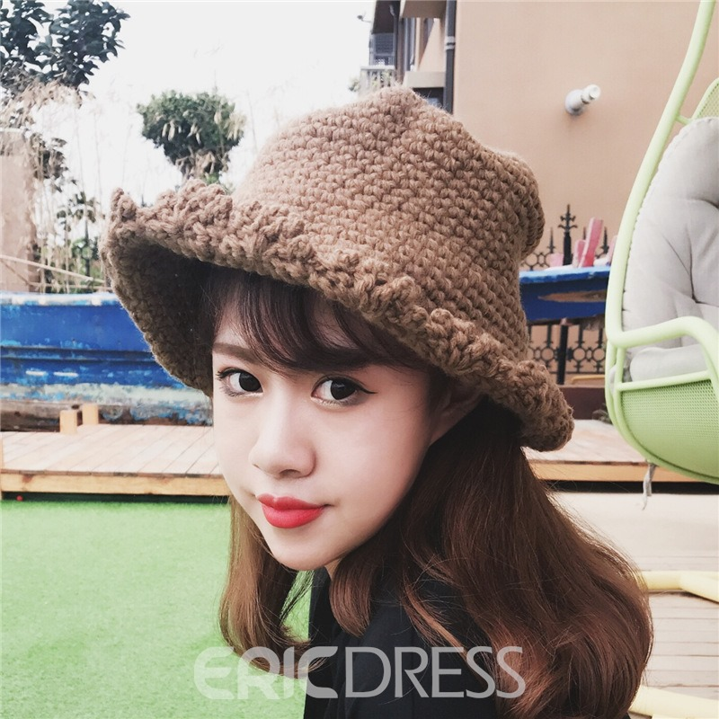Ericdress New Style Soild Color Knitted Hat for Autumn&Winter
