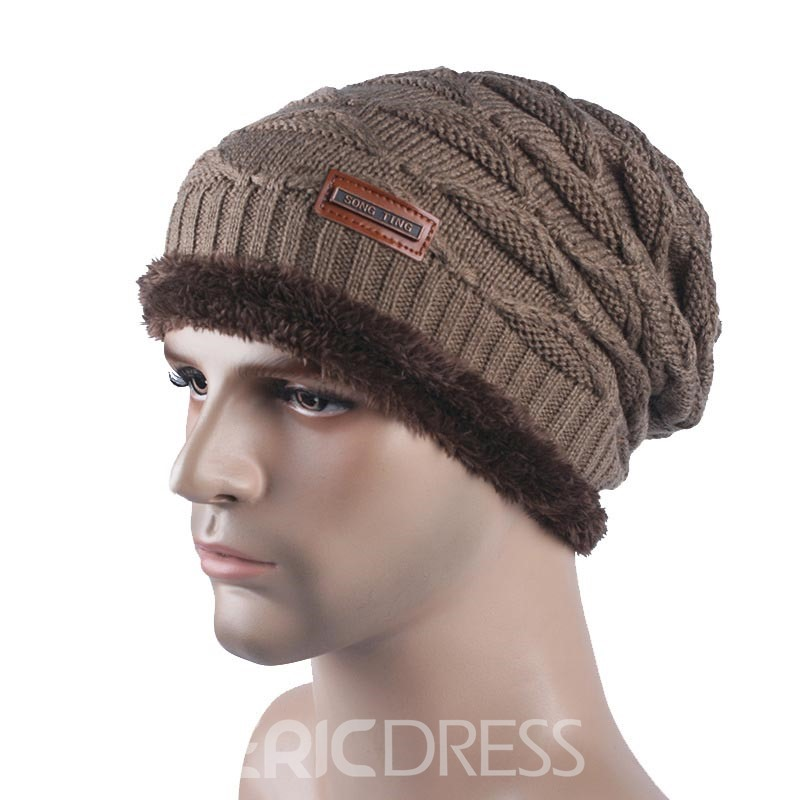 Ericdress Knitting Wool Thicken Men's Hat