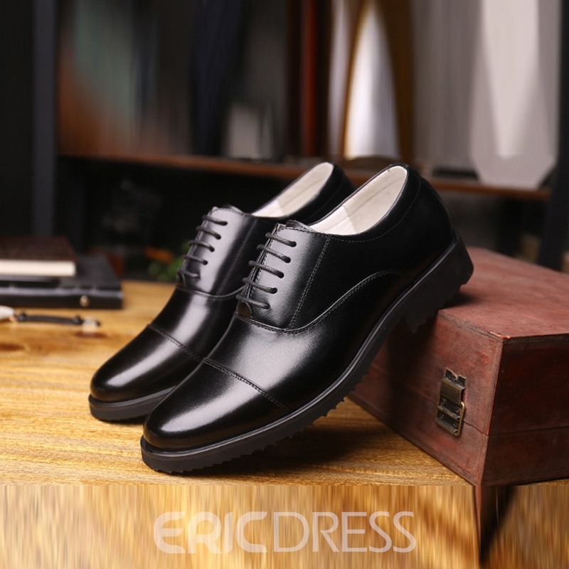 Ericdress Plain Low-Cut Lace-Up Men's Oxfords
