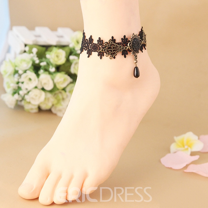 Ericdress Trendy Pendant Lace Anklet for Women