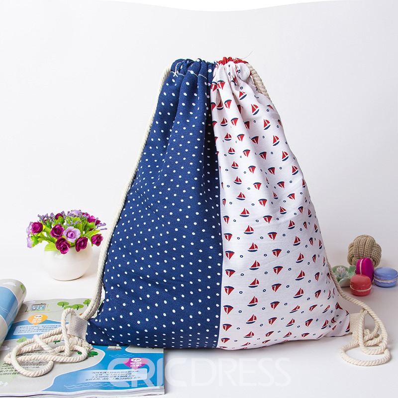 Ericdress Casual Geometric Prints String Backpack
