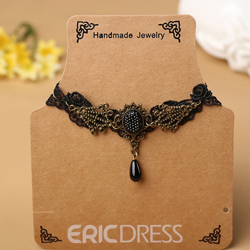 Ericdress Vintage Style Exquisite Lace Pendant Anklet
