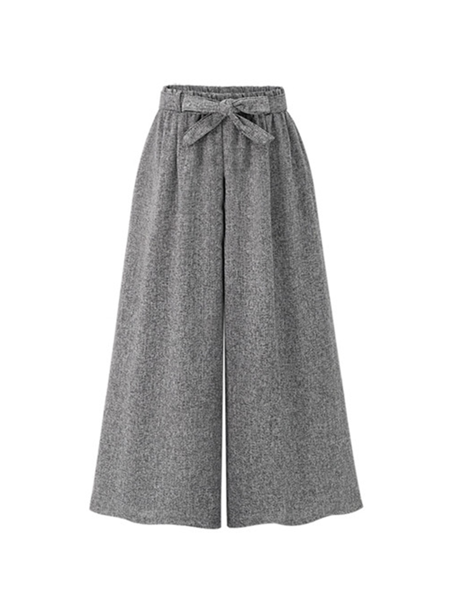 Ericdress Loose High-Wasit Ankle-Length Wide Leg Women's Casual Pants