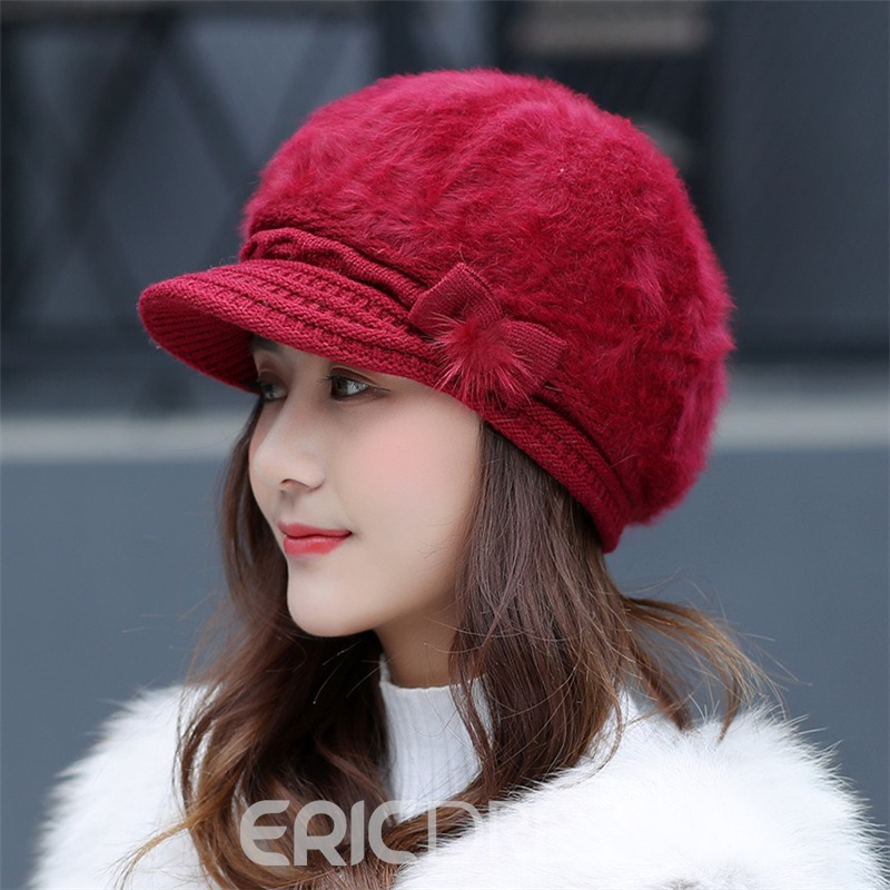 Ericdress Graceful Bowtie Earmuffs Hat for Autumn&Winter