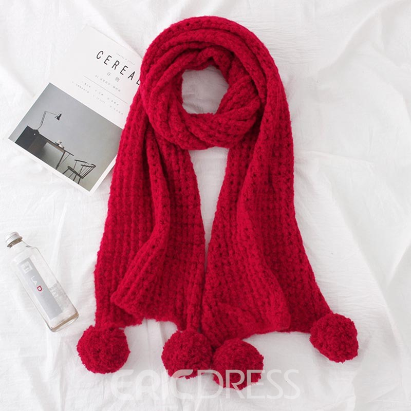 Ericdress Thicken Mohair Soild Color Women's Scarf