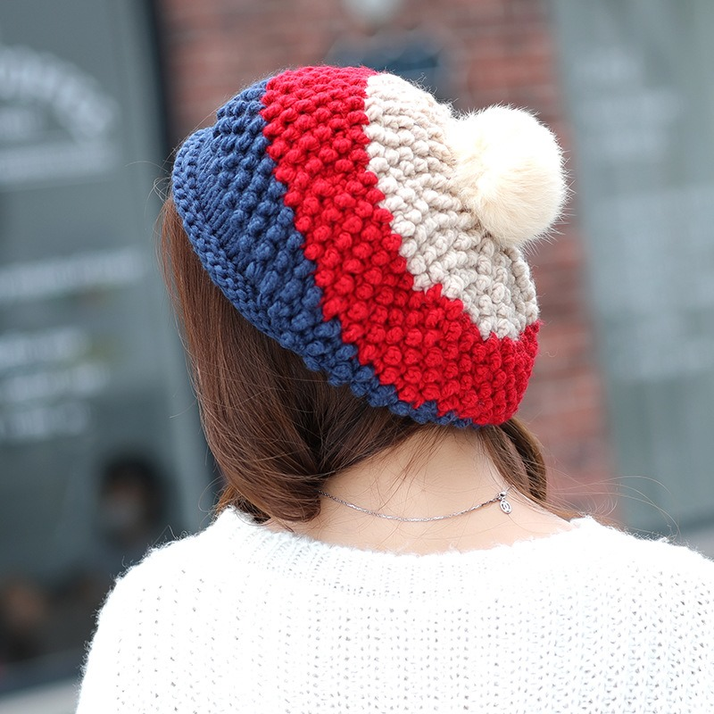 Ericdress Colorful Contrast Color Knitting Wool Cute Women's Hat