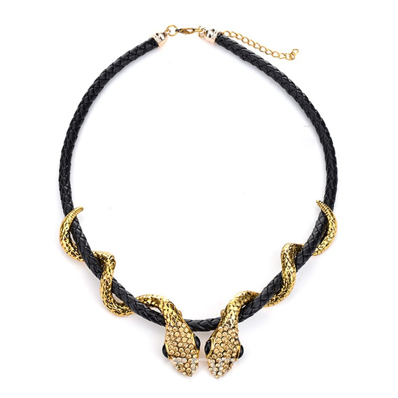 Ericdress Exquisite Double Snakes Dancing Charm Necklace