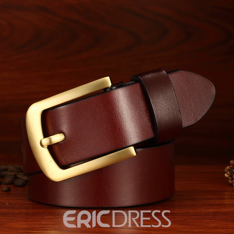 Ericdress Luxurious Full Grain Cow Leather Men's Belt