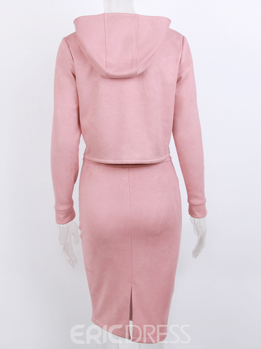 Ericdress Plain Bodycon Long Sleeves Suit