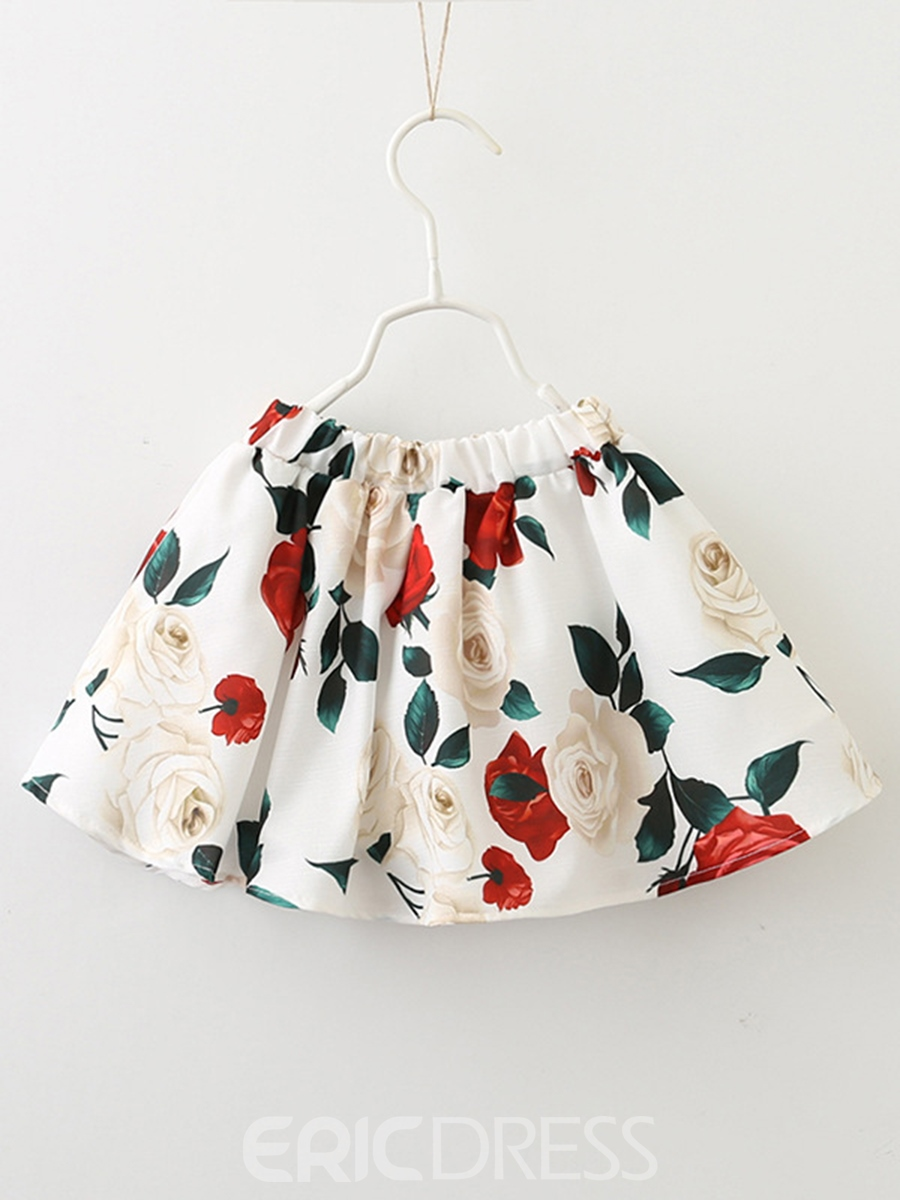 Ericdress Chic Long Sleeve Floral Jacket And Skirt Girls Outfit