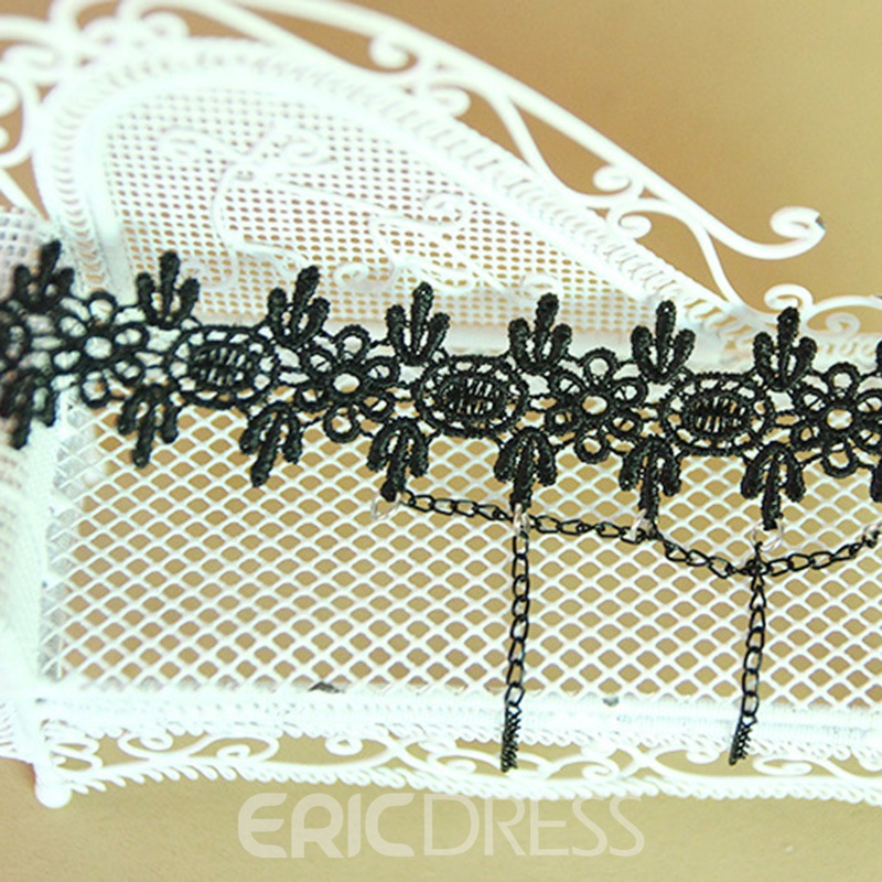 Ericdress Alluring Women's Black Lace Anklet