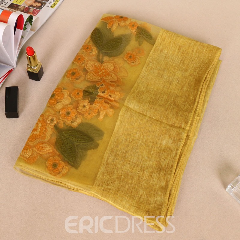Ericdress Cotton Flower Printed Women's Scarf