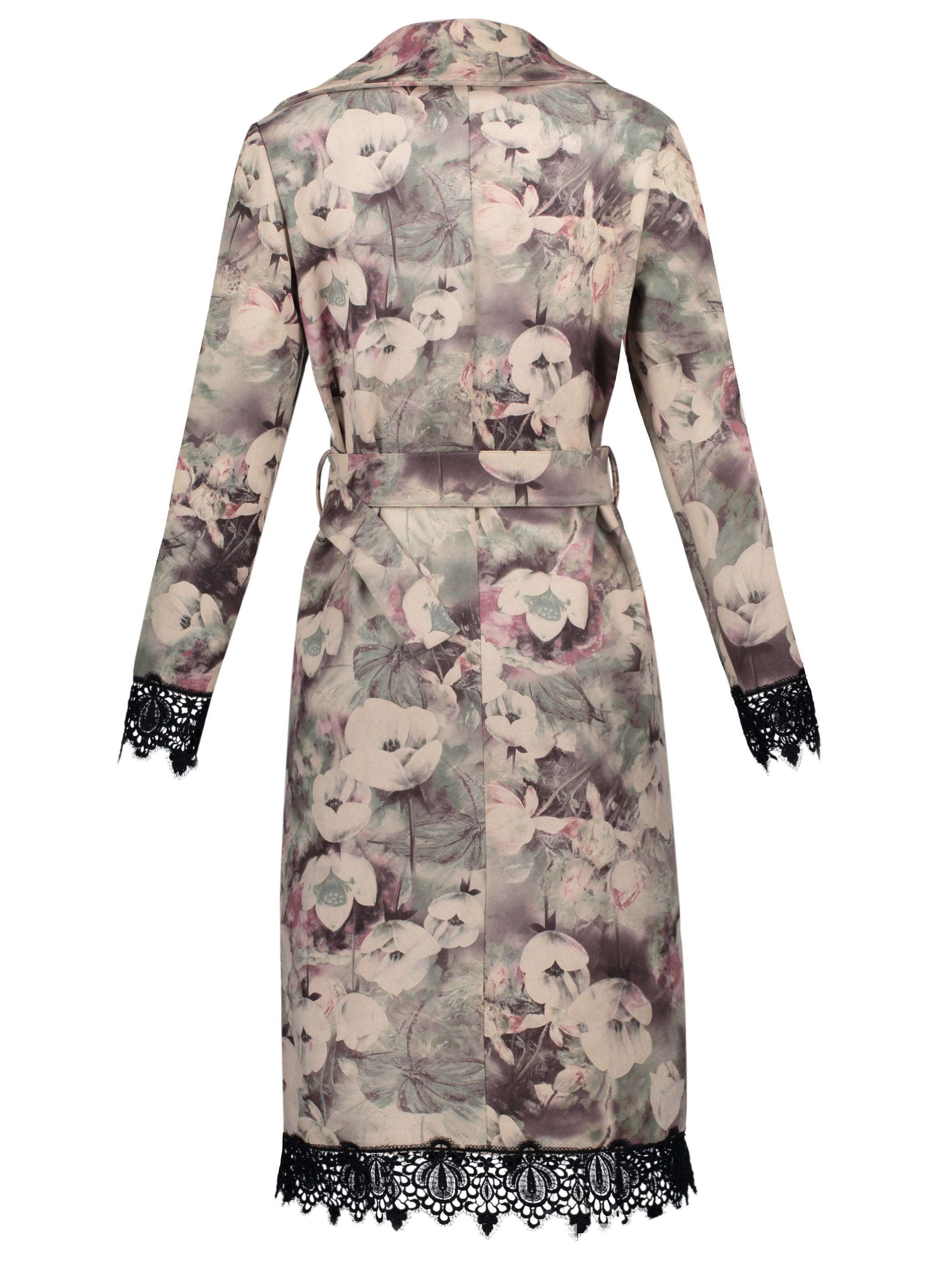 Ericdress Notched Lapel Floral Double-Breasted Overcoat