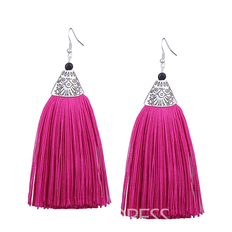 Ericdress Colorful Tassel Earring for Women