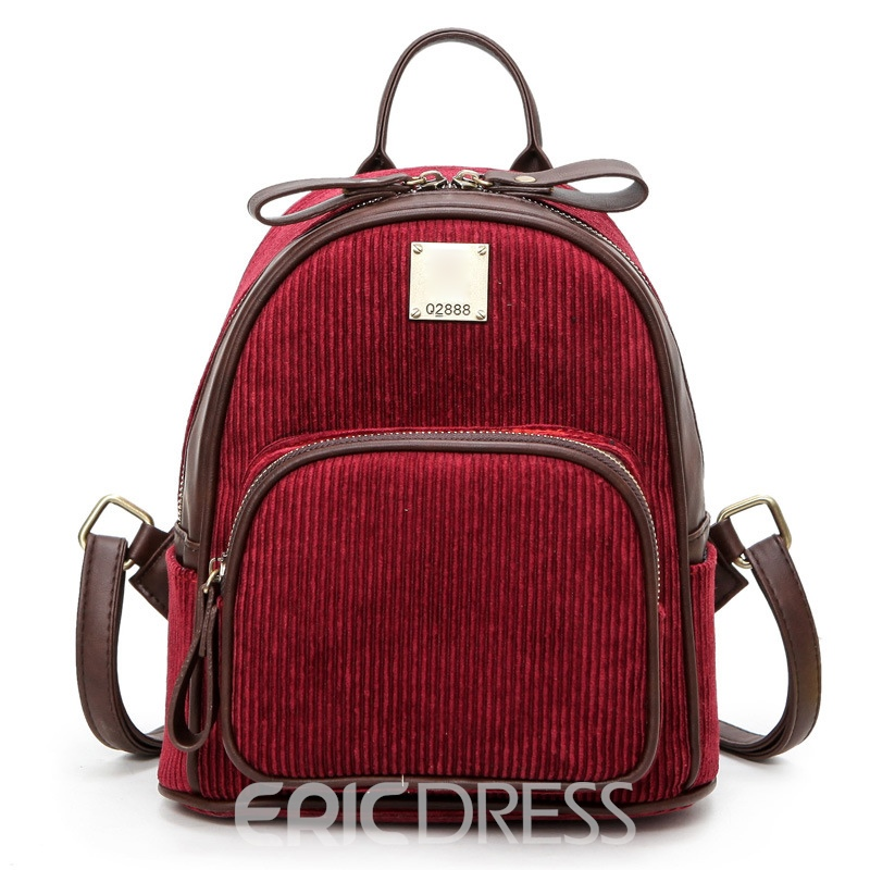 Ericdress Preppy Chic Soft PU Zipper Handbag