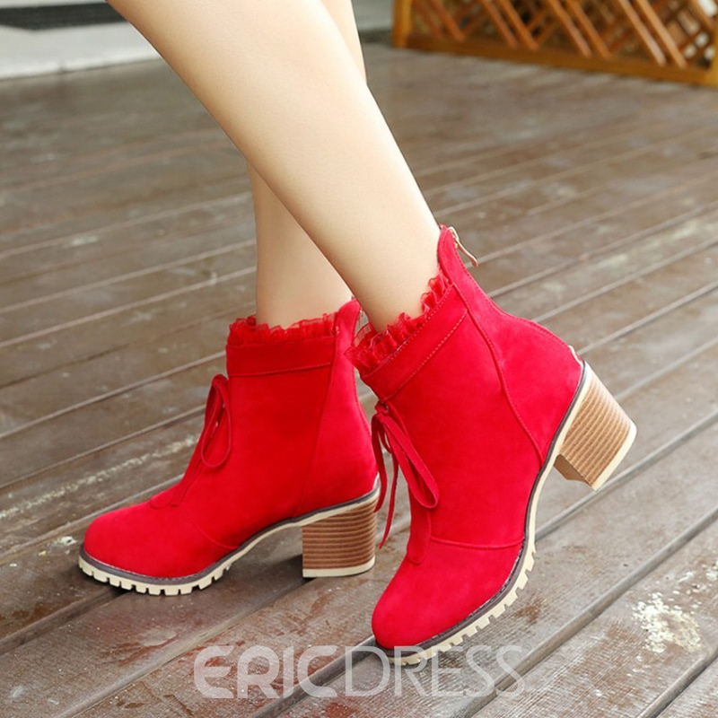 Ericdress Fashion Lace-Up Platform Womens Ankle Boots