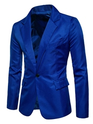 Ericdress Plain Notched Lapel Single-Breasted Slim Mens Blazer