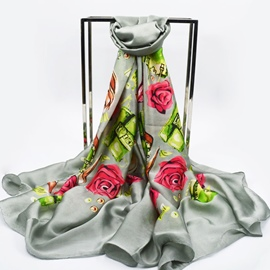 Ericdress 2017 New Graceful Flower Printed High-End Scarf for Women