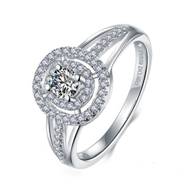 MarkChic High Quality Fully Jewelled Diamante Women's Wedding Ring