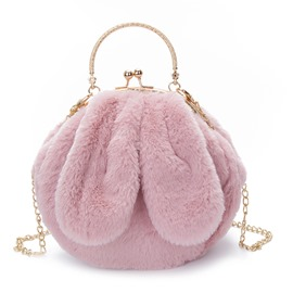 Ericdress Lovely Ear Shape Plush Chain Clutch