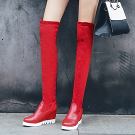 Ericdress Slip-On Plain Platform Knee High Boots