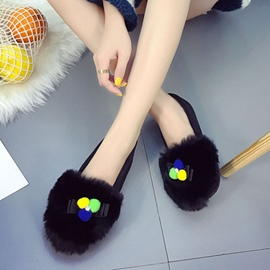 Ericdress Color Block Slip-On Women's Flats with Bowknot