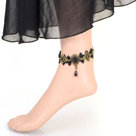 Ericdress Fashionable Gothic Lace Anklet for Women
