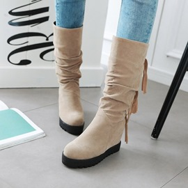 Ericdress Tassel Slip-On Plain Women's Boots