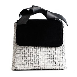 Ericdress Chic Color Block Square Shape Handbag