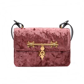 Ericdress Personality Metal Lock Design Velvet Crossbody Bag